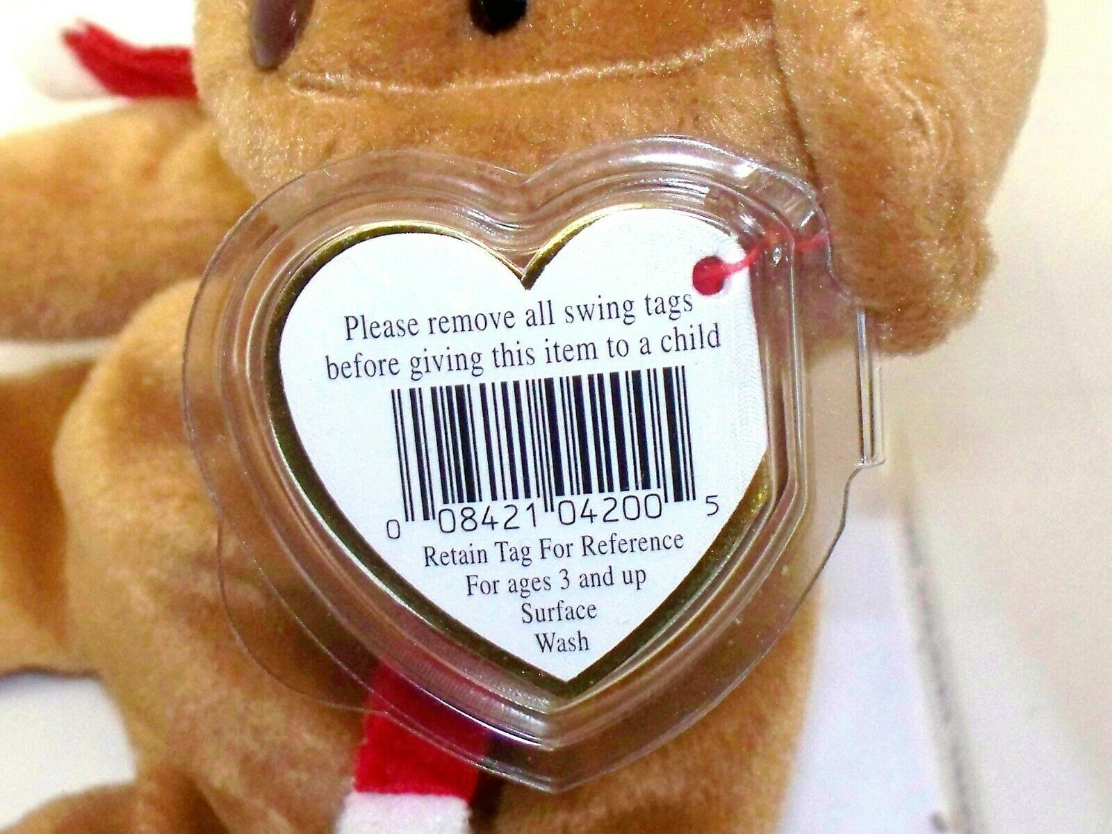 TY Beanie Baby 1997 HOLIDAY HOLIDAY HOLIDAY TEDDY Bear RARE With ERRORS In Case dbcff4