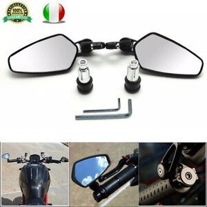2x-7-8-034-Coppia-Moto-Specchietti-Retrovisori-Specchi-manubrio-specchietto-360