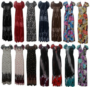 LADIES-WOMENS-LEOPARD-ANIMAL-MULTI-FLORAL-PRINT-RUCHED-SUMMER-MAXI-LONG-DRESS