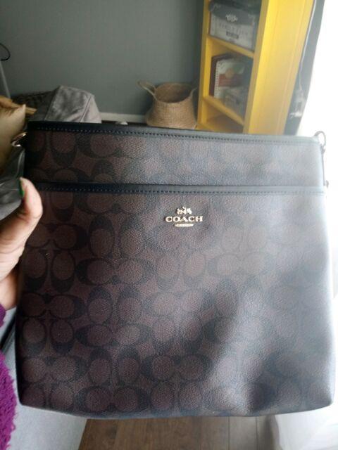 1f8b8ba453ab Coach Signature File Crossbody Bag for sale online | eBay