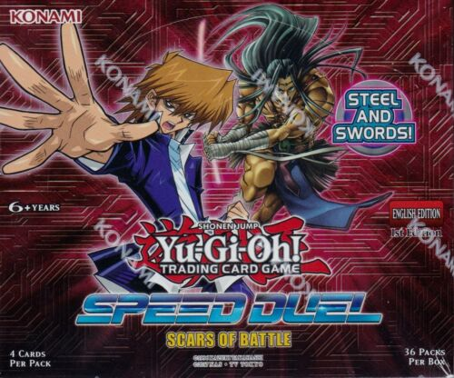 Yu-gi-oh Speed Duel Scars of Battle 1st Edition sealed box 36 packs of 4 cards