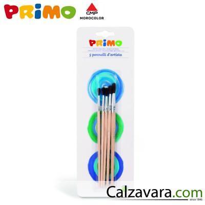 Good Primo Pennelli Punta Tonda Pelo Di Pony In Blister Da 5 Pezzi 2/3/4/5/8 Fashionable Patterns Nr