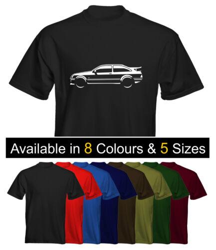 Velocitee Mens Premium T-Shirt Ford Sierra Cosworth Size /& Colour Options