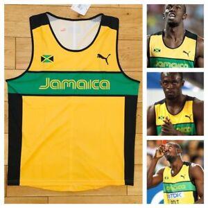 409907f43e Puma Jamaica Homme Pro Elite 2011 Débardeur Course Usain Bolt Neuf ...