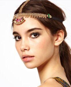 Stirnband Pharao Haarband Haarkette Haarschmuck Kopfschmuck Stirnschmuck 13