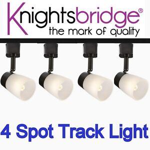 Détails Sur 2 Mètre Del Track Lighting Noir Set 4x Spotlight G9 Lampe Spot Luminaire M Afficher Le Re D Origine