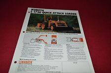 Kubota L-1730 Quick Attach Loader Dealers Brochure DCPA2