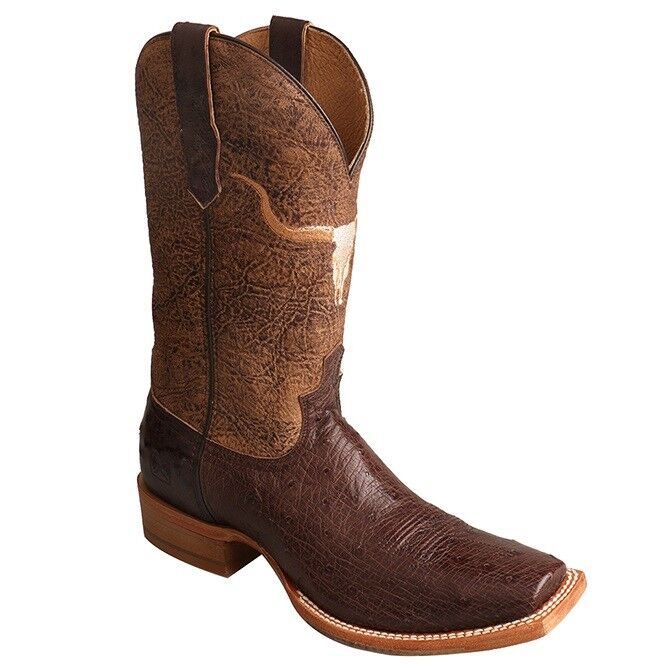Twisted X Men's Rancher Tobacco Smooth Ostrich Cowboy Boots MRAL014