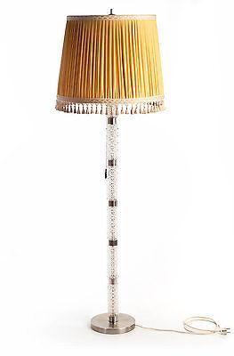 Gelernt Sixties Steh-leuchte-lampe Stahl Glas Stoff 60er Floor-standard-lamp Lampadaire
