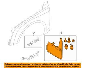 Audi Genuine Accessories 4H0075111 Front Splash Guard A8