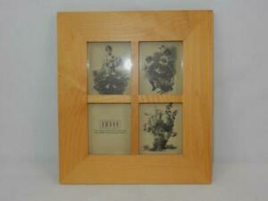 Umbra 4 Photo Frame Blonde Wood Square Picture Areas Small Wall Table Display