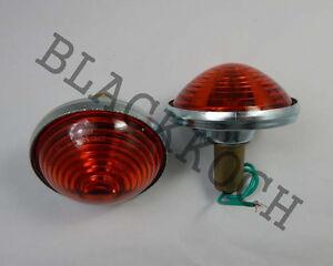 Turn Signal Light Rear Combination light white lens fits Willys Jeep CJ3 CJ5 CJ6