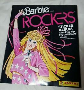 Vtg 1980s Panini 1986 Barbie & the Rockers Sticker Album Book Black NEW Unused