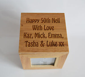 Personalised-Oak-Wooden-Photo-Box-Keepsake-Cube-Box-Engraved