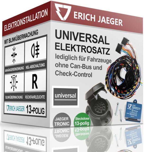 ELEKTROSATZ E-SATZ 13-polig für ANHÄNGERKUPPLUNG AHK VW TRANSPORTER T5