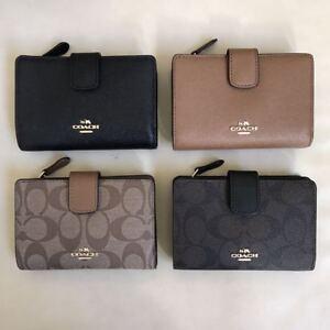 d295a3e05068 NWT Coach Medium Corner Zip Leather PVC Wallet Coin Case F23553 ...