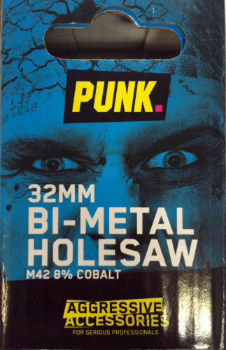 PUNK 32MM BI-METAL HOLESAW M42 8/% COBALT *Authorised Distributor for PUNK*