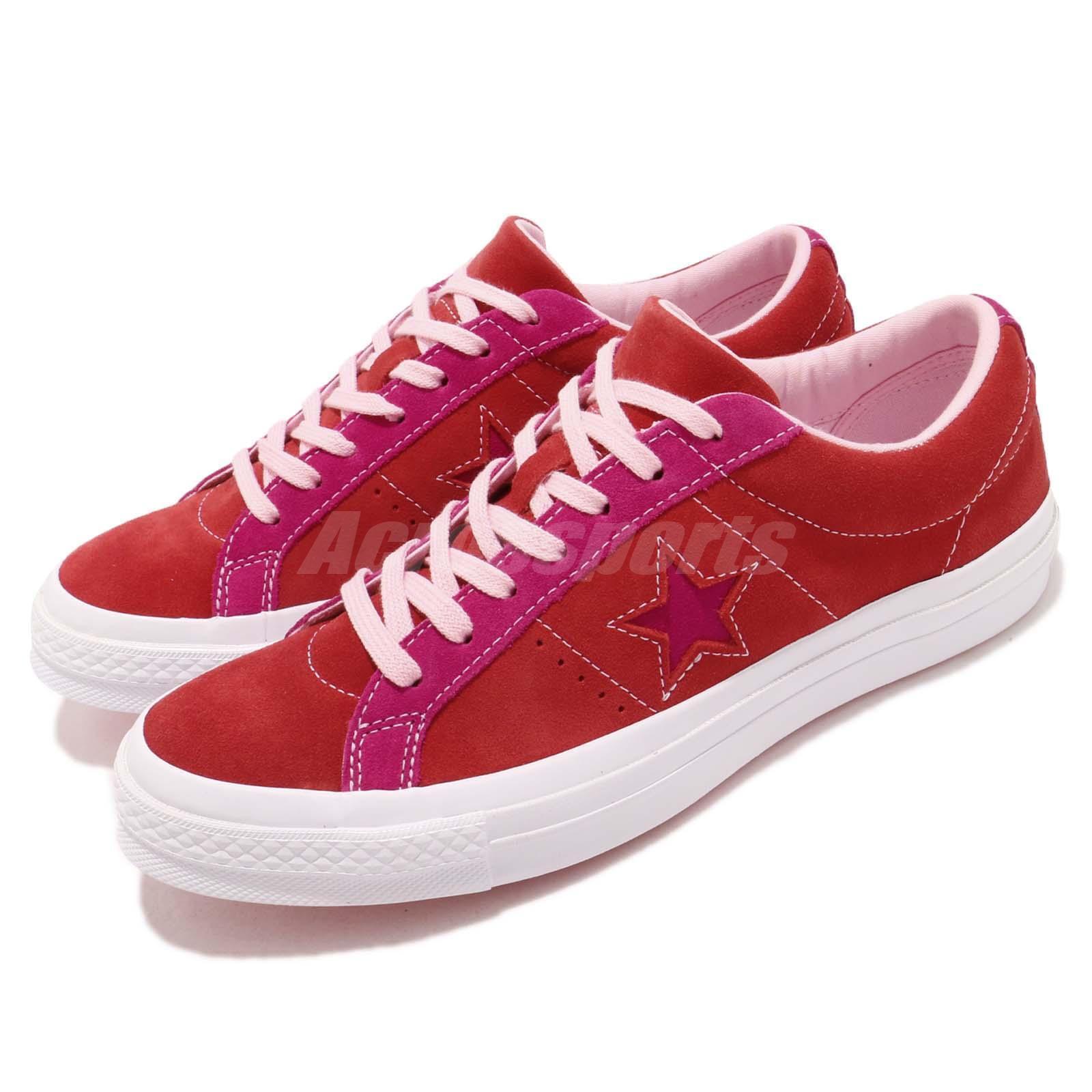 Converse One Star rosso rosa bianca Suede Men donna Casual scarpe scarpe da ginnastica 161613C | Fashionable  | Scolaro/Ragazze Scarpa