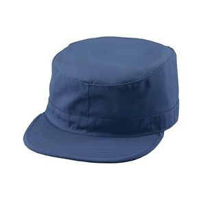 b58a5f6a122 ... discount code for image is loading navy blue army cap military hat  fitted back d3576 6fe07
