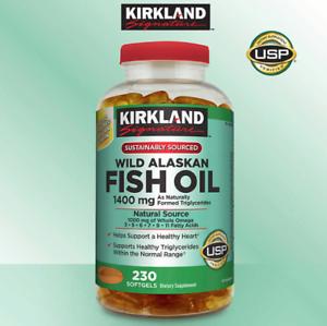 Details about Wild Alaskan Fish Oil - Omega 3 - Kirkland Signature - New  1400 mg - FREE Ship