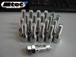 16 X M12X1.25 60mm LONG 35mm THREAD WOBBLE ALLOY WHEEL BOLTS FIT PEUGEOT 1 65.1