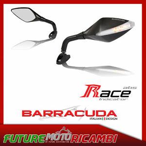 BARRACUDA-COPPIA-RETROVISORI-ALLUMINIO-UNIVERSALI-RACE-INDICATOR-LED-MIRRORS