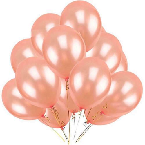 """10PCS 12/"""" Or Rose Latex Hélium Ballons Set Mariage Anniversaire Enterrement Vie Jeune Fille Décor"""