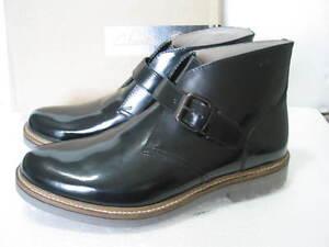 Clarks botines talla de Monmart 10 Black Hi cuero hombre Nuevos brillante para G 5awqvZ