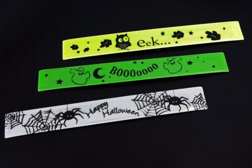 Sicherheit für Kinder Schnappband Spaß 3 Motive Reflektoren Armband Leuchtband
