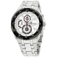 Casio Edifice Stainless Steel White Dial Men's Watch EFR539D7A