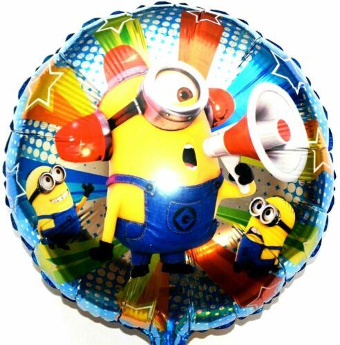 3 Stück  Minions Helium Folienballons Geburtstag Geschenk Minion Feuerwehrmann