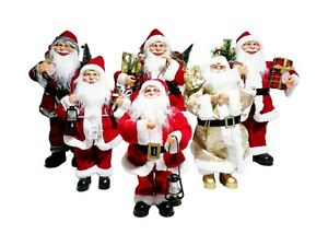 Babbo Natale 40 Cm.Babbo Natale Con Albero Musica Canta Si Muove 40cm 50cm 65cm Con Luci Led Sacco Ebay