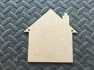 3mm Medite MDF 5mm holes 3 X Wooden MDF House Plaques Blanks 15cm  x 15cm