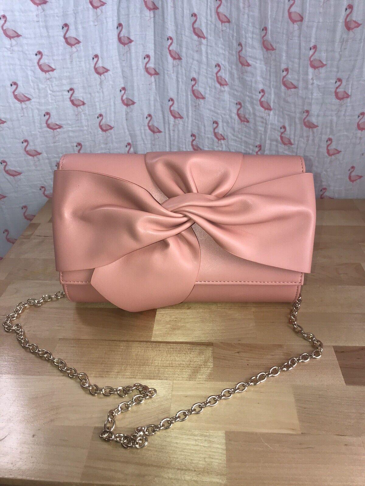 Street Level Peach 🍑 Faux Leather Crossbody Clutch Bag Nordstrom Betsey Johnson