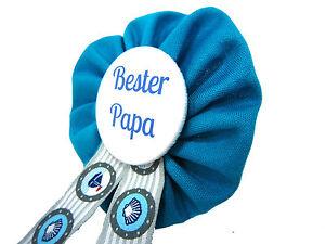 Orden-Bester-Papa-Babyshower-Pullerparty-Baby-pinkeln-Babyparty-blau-tuerkis-Dad
