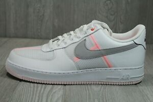 61 Nike Air Force 1 Low Transparent White Grey CI0060-101 Mens Shoes Size 14