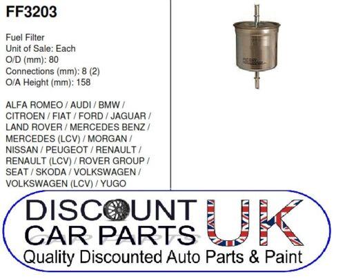 Fuel Filter vw Passat 1.8 20v 1781CC Petrol 125BHP 2//97-12//00