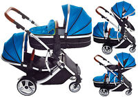 Duellette 21cb/bs Twin Tandem Double Pushchair Baby Prams Newborn Travel System