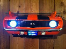 1969 Chevy Chevrolet Camaro SS Orange Car Wall Shelf -CANADIAN ORDERS SHIPS FREE