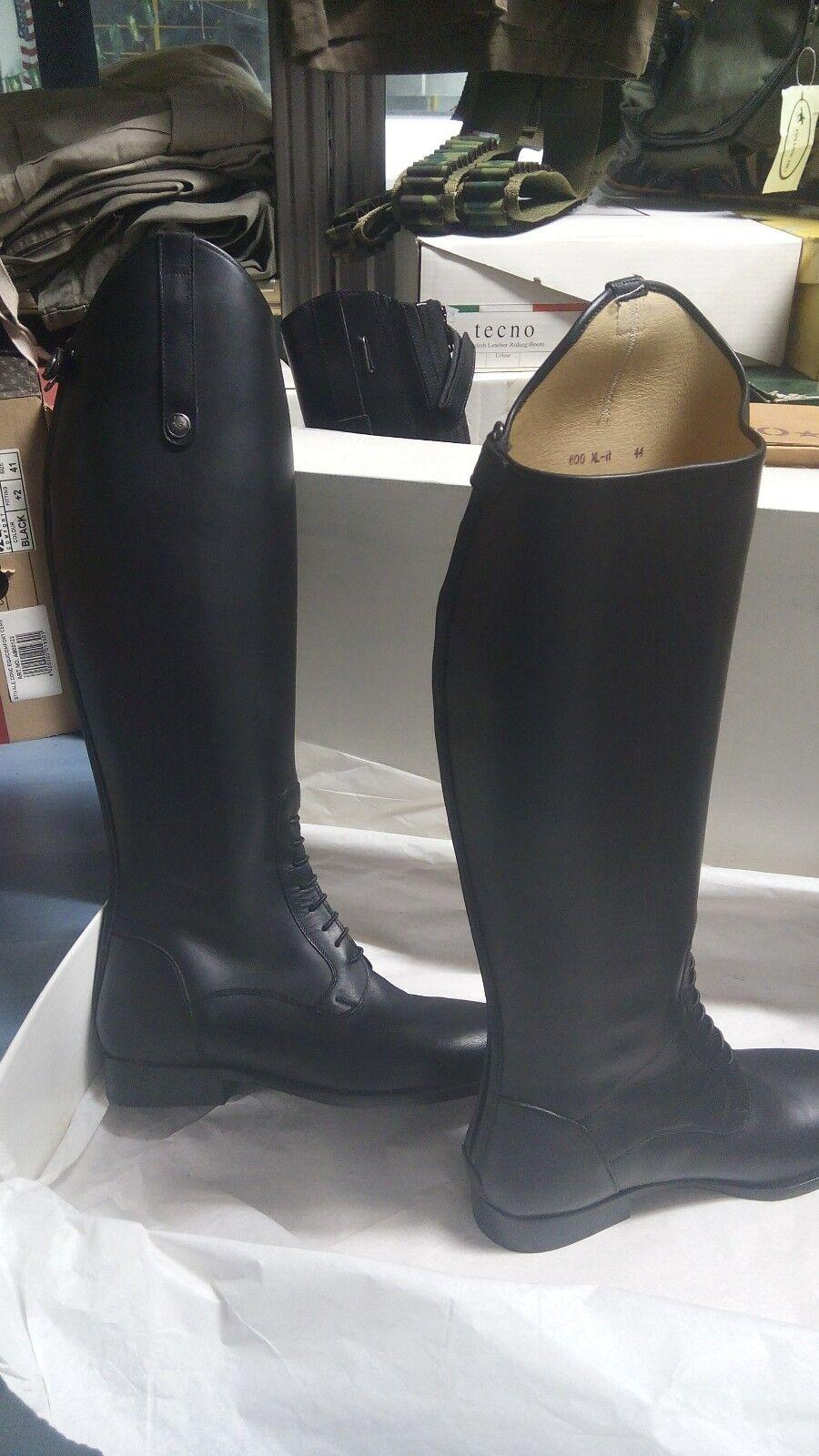Stivale stivali equitazione pelle SARM HIIPPIQUE  44 concorso neri laccetti