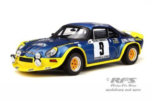 Alpine Renault a110 turbo rally Cevennes 1972 therier 1:18 Otto 249 nuevo embalaje original