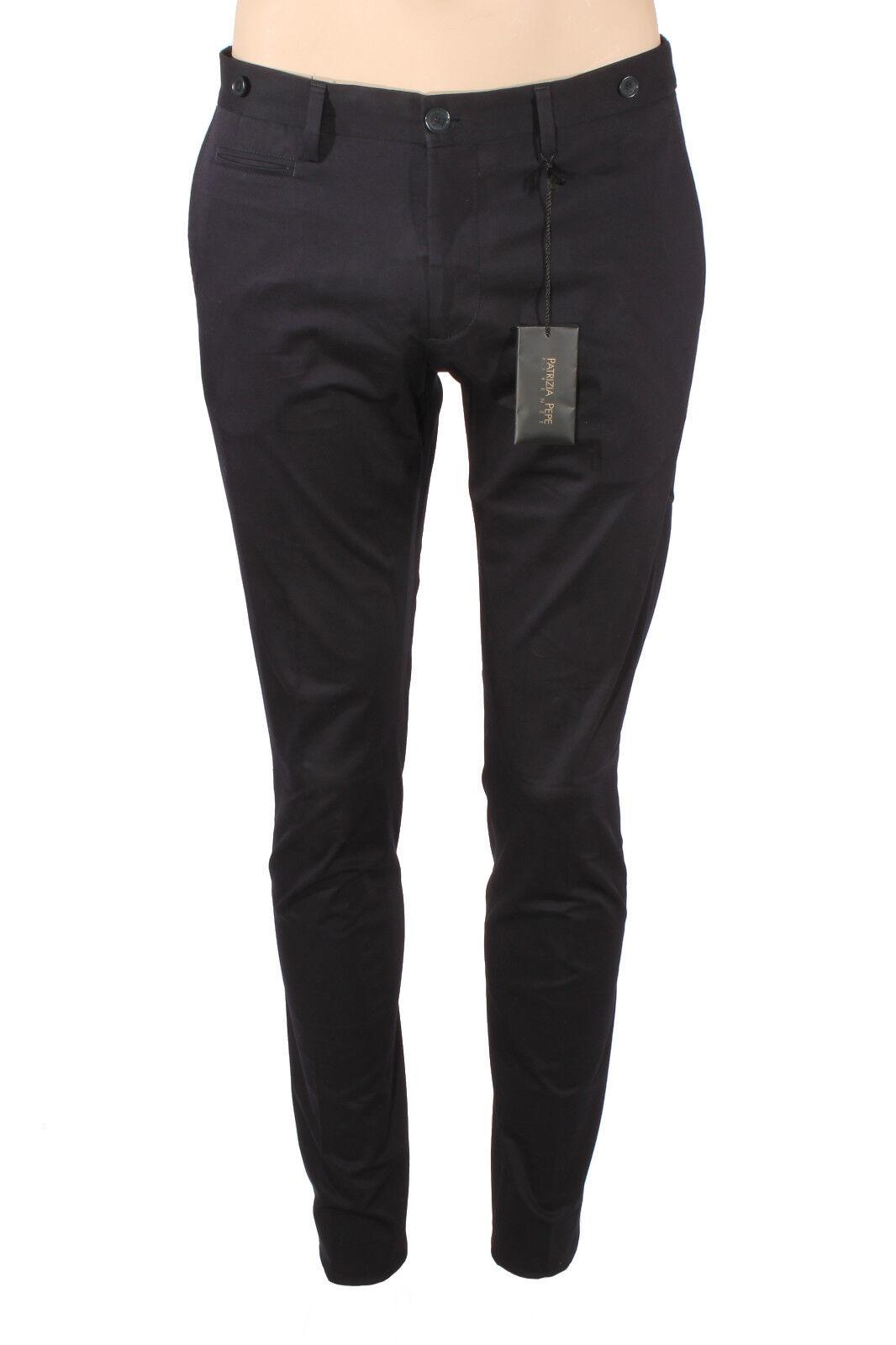 Men's trousers cotton P   E PATRIZIA PEPE Slim Royal navy 5P1225 A424-C166