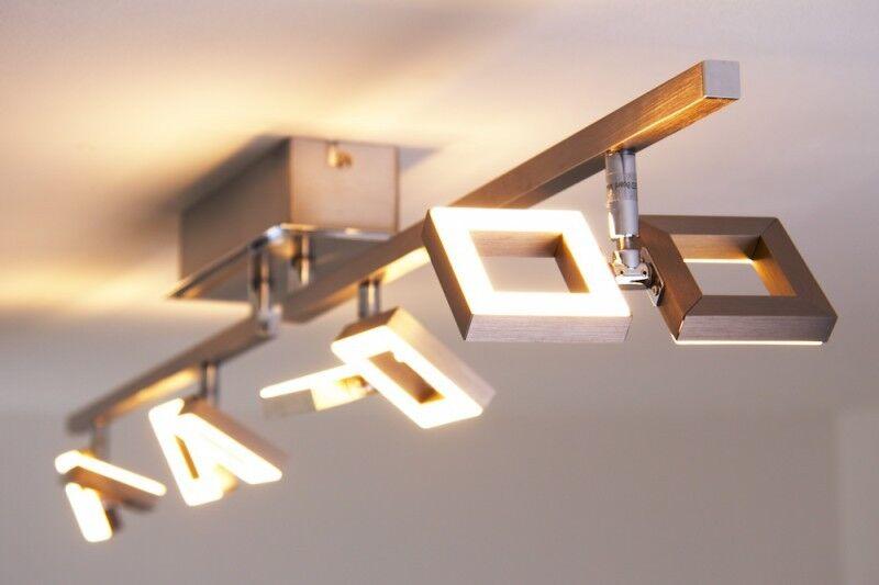 LED Plafoniera lunga 8x2,5W acciaio plastica bianco IP20 design moderno 115084