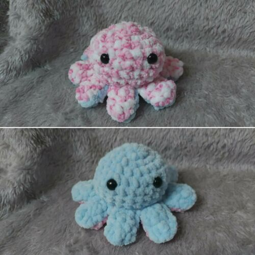 Felpa REVERSIBLE Pulpo de ganchillo hecho a mano escritorio Buddy