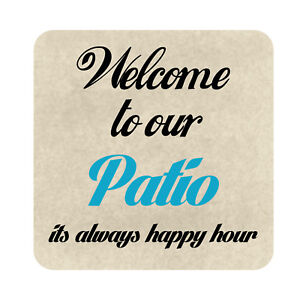 Outdoor Beach Bar Party Decor Metal Sign Welcome To Out Pool Patio Sign Plaque