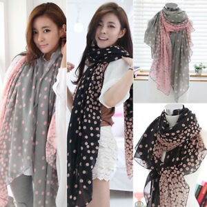 Fashion-Women-Ladies-Chiffon-Polka-Dot-Print-Scarf-Soft-Wrap-Long-Shawl-Scarves