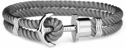BRACCIALE PAUL HEWITT PH-N-S-Gr ANCORA NYLON Grigio PHREPS BRACELET anchor L XL