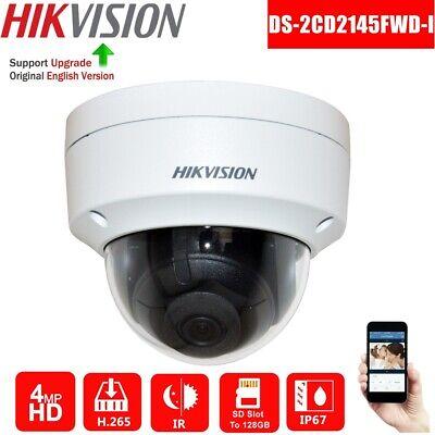 HIKVISION 4MP DARKFIGHTER DS-2CD2145FWD-I IP67 IK10 IR WDR CCTV IP CAMERA DOME