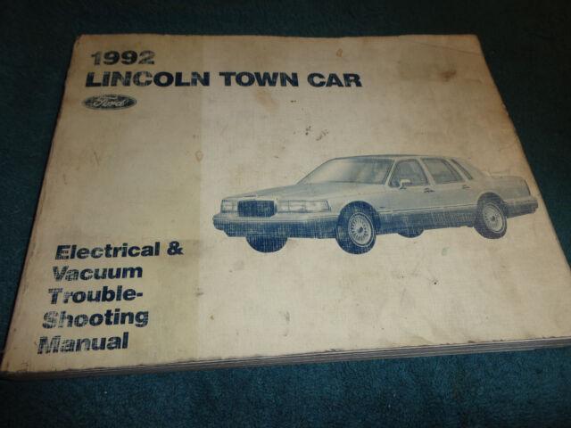 1992 Lincoln Town Car Wiring Vacuum Diagram Shop Manual