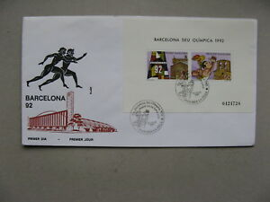 S/s Olympic Games Barcelona Price Remains Stable Symbol Of The Brand Andorra Cover Fdc 1992